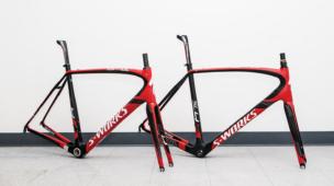 quadro vermelho bicicleta.