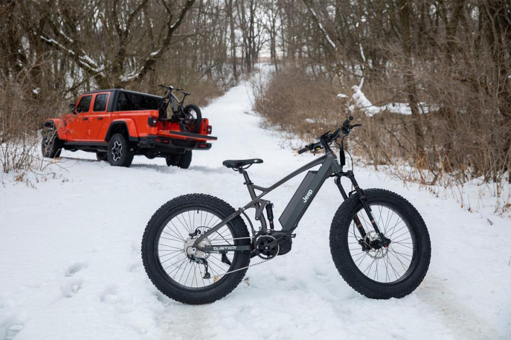 e-bike na neve